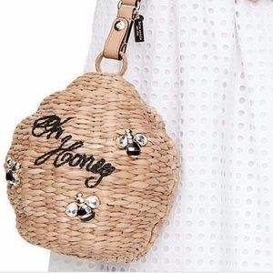 New • Kate Spade New York Straw Beehive Bag